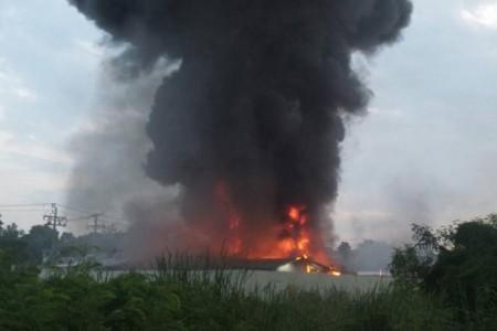 Пожар уничтожил крупную...