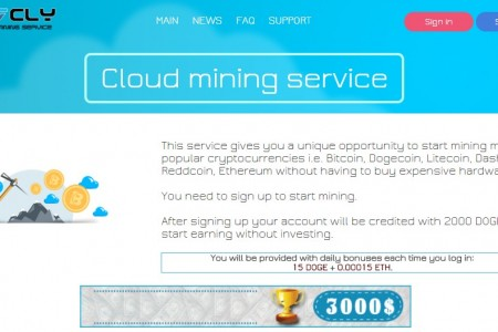 Облачный майнинг 7cly.com