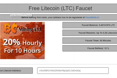 Очень шустрый Litecoin кран