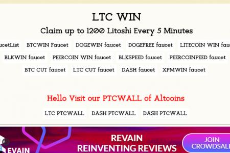 Пятиминутный LiteCoin кран....